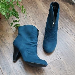 G by Guess Faux Suede Booties